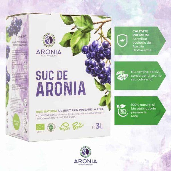 Suc Aronia 3L 100% Natural Bio (RO-ECO-18)